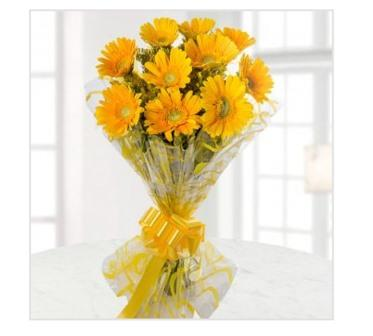 Yellow Gerbera Bunch