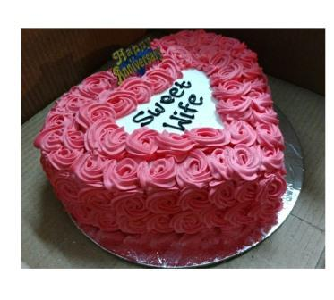 Sweetheart cake flora for u best florist in udaipur flower sweetheart cake izmirmasajfo