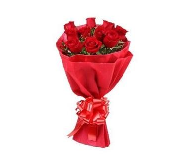 10 Red Roses Paper Bouquet