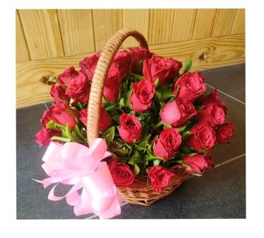 Flora Red Basket